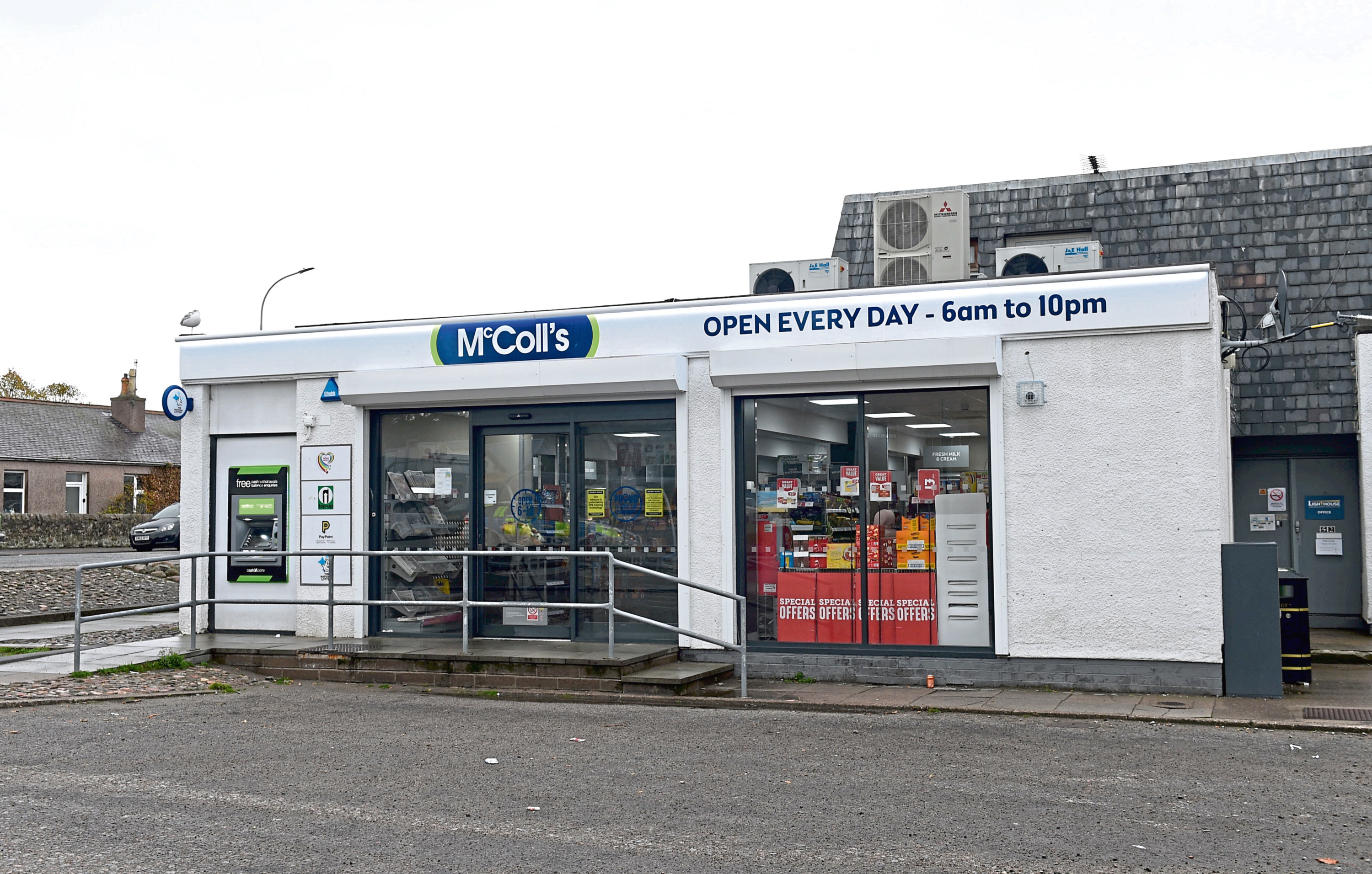 The incident happened at the McColl's newsagent in Tillydrone