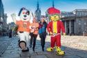 Charlie Dog, Susan Crighton, Councillor Marie Boulton and Spotless