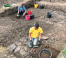 The archaeological dig focused on a field near the ruins of Deer Abbey