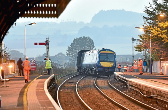 A train derailed at Stonehaven
