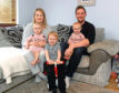 Laura and Duncan Hart with their children, from left, Isabella, James and Isla