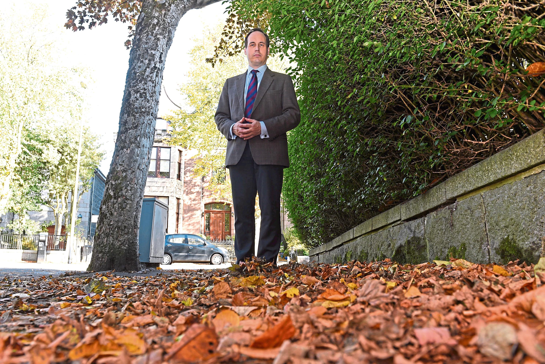Martin Greig on Forest Road, Aberdeen