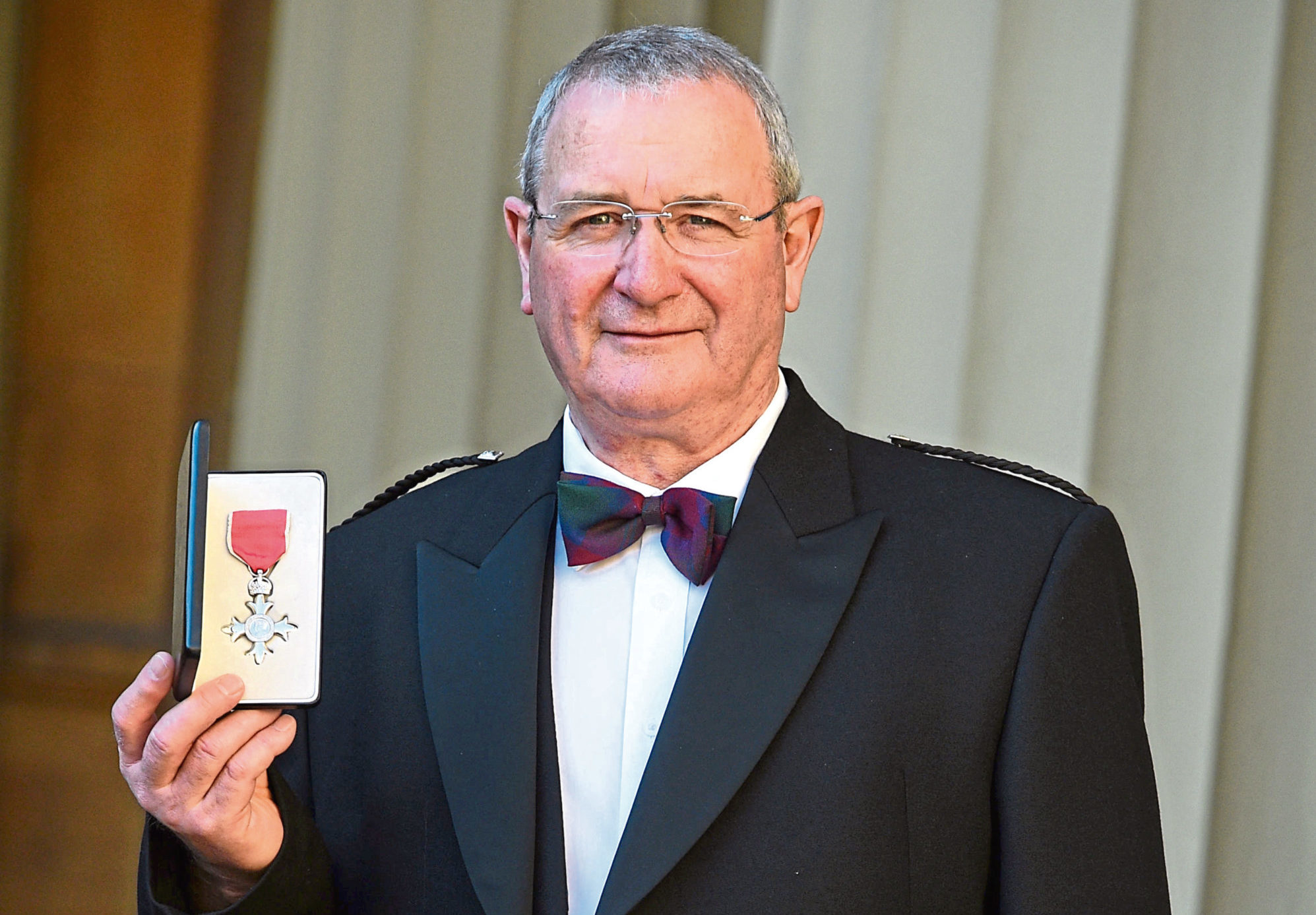 Aberdeen lifeboat veteran William Deans after receiving his Member of the Order of the British Empire (MBE) medal for services to saving lives at sea