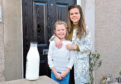 Maya and her mum Amy have welcomed the return of the milk round to Ellon