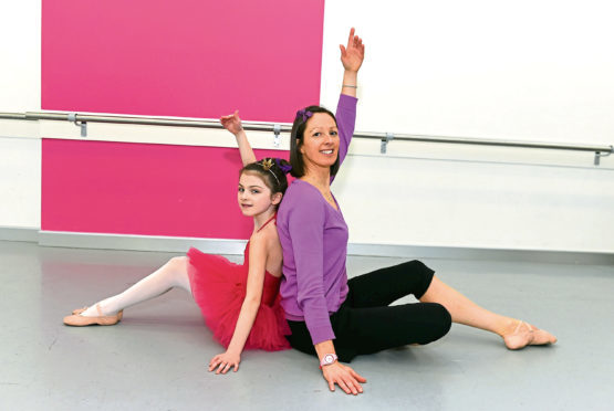 Dance teacher Jemma McRae, who is battling breast cancer, with her eight-year-old daughter Izzy