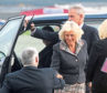 Camilla arrived at Aberdeen International Airport to officially open the new BA departure lounge