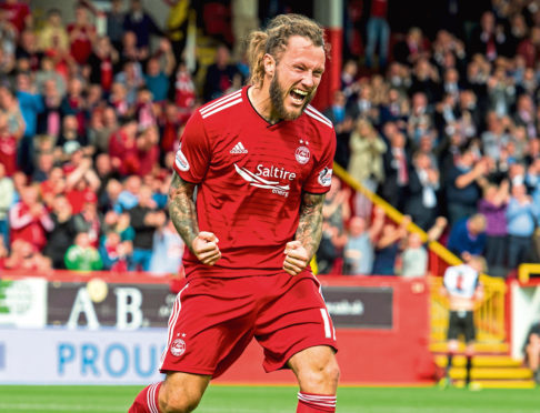 Aberdeen's Stevie May is  wanted by former club St Johnstone