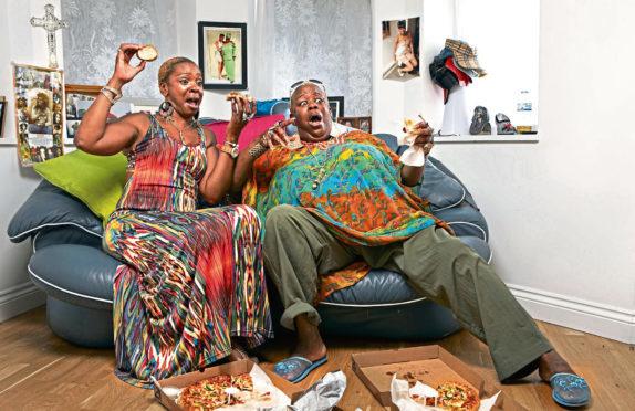 Gogglebox stars Sandy and Sandra