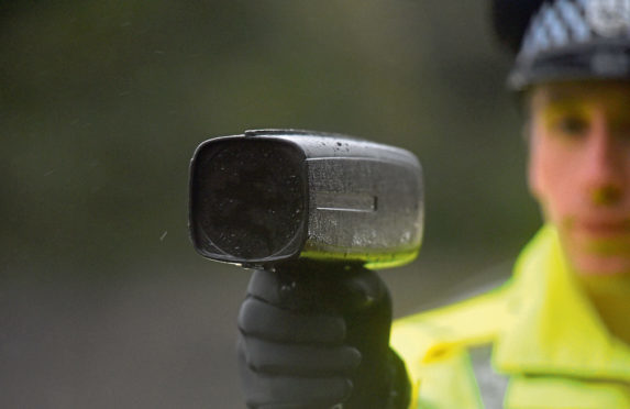 The incident happened on the A96 near Huntly