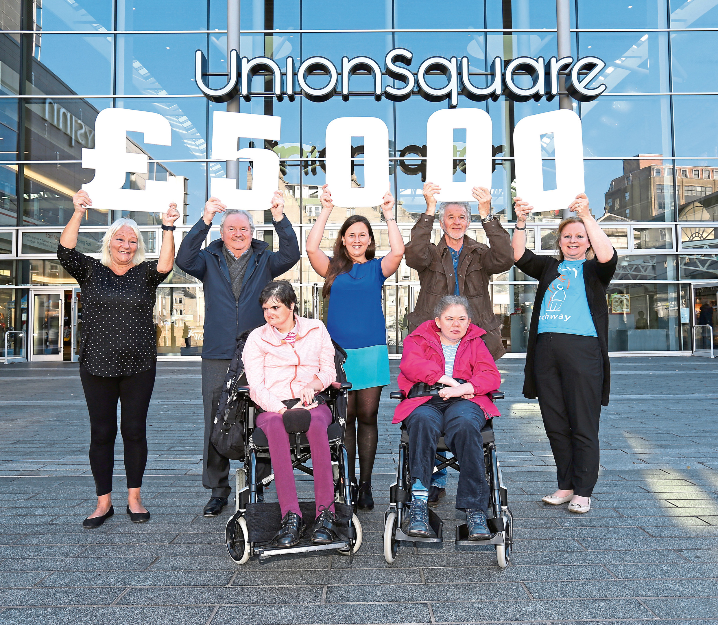 The shopping centre has donated the money to help the charity