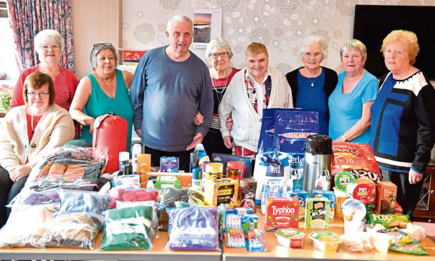 Residents of Crichie Court, Stuartfield, have knitted hats and scarfs and also collected sleeping bags and food for the homeless charity Street Friends