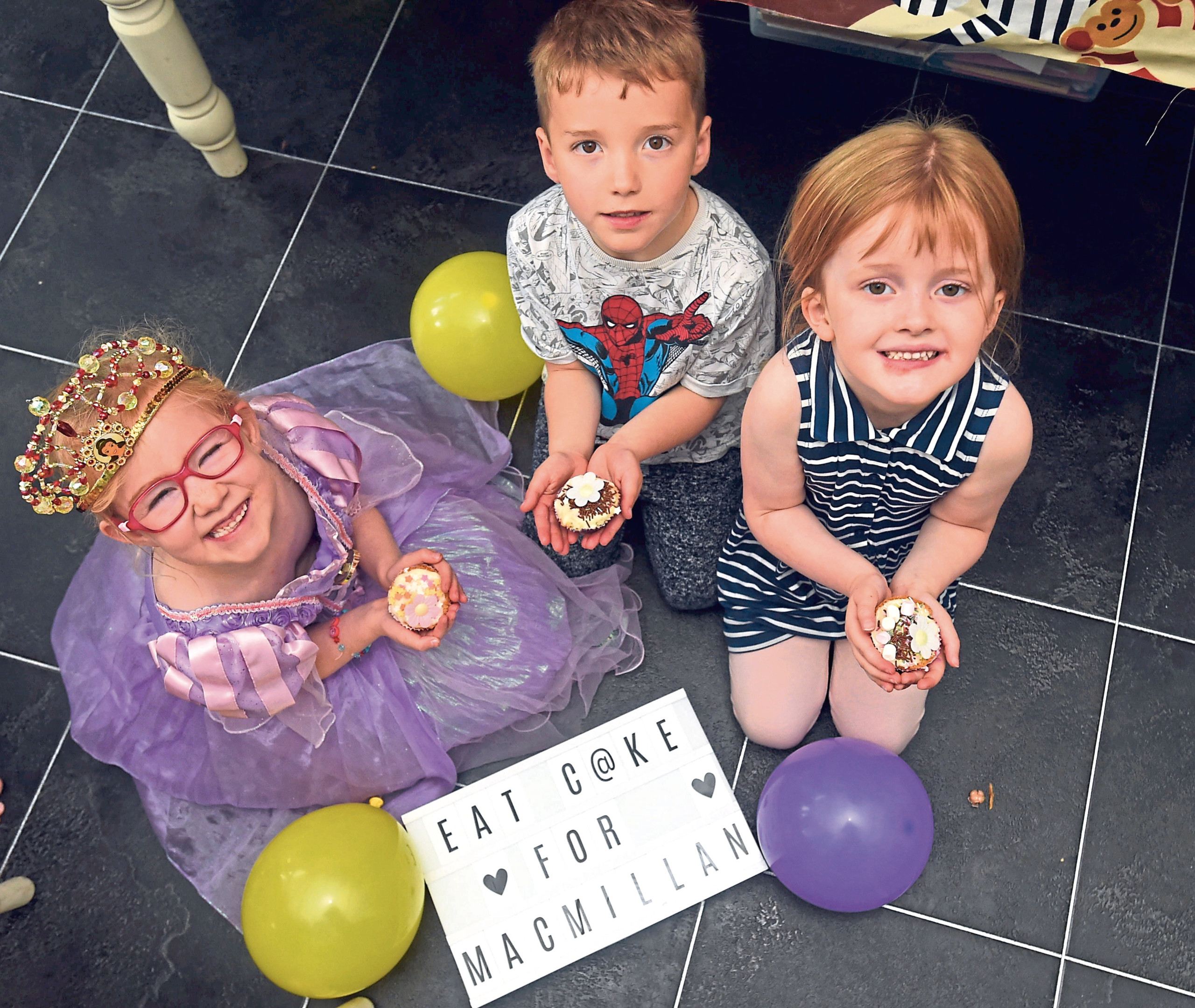 Caitlyn Allan and Ethan McNeil, both aged five