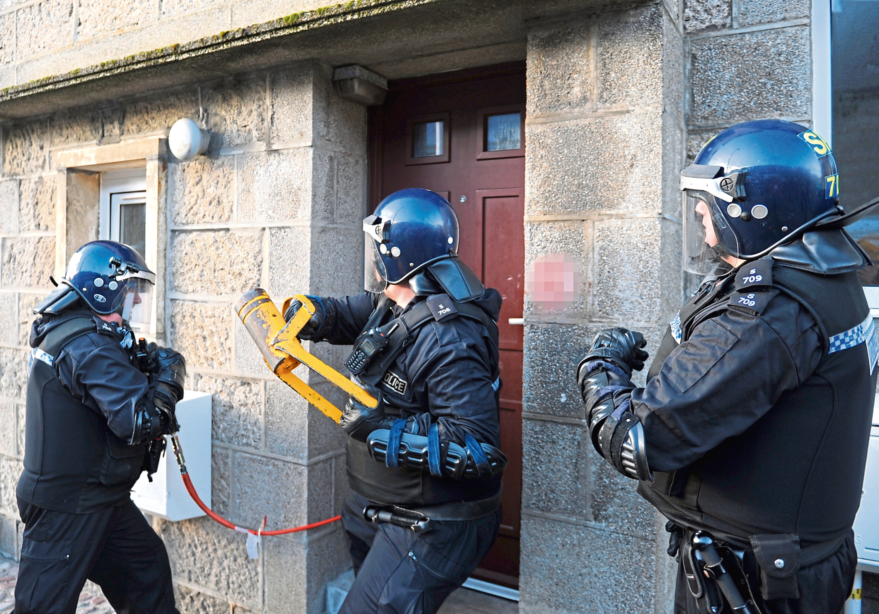 A series of police raids took place