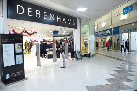 The Debenhams store in Aberdeen