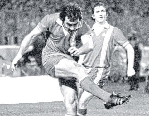 Aberdeen's Jocky Scott in action in the final.