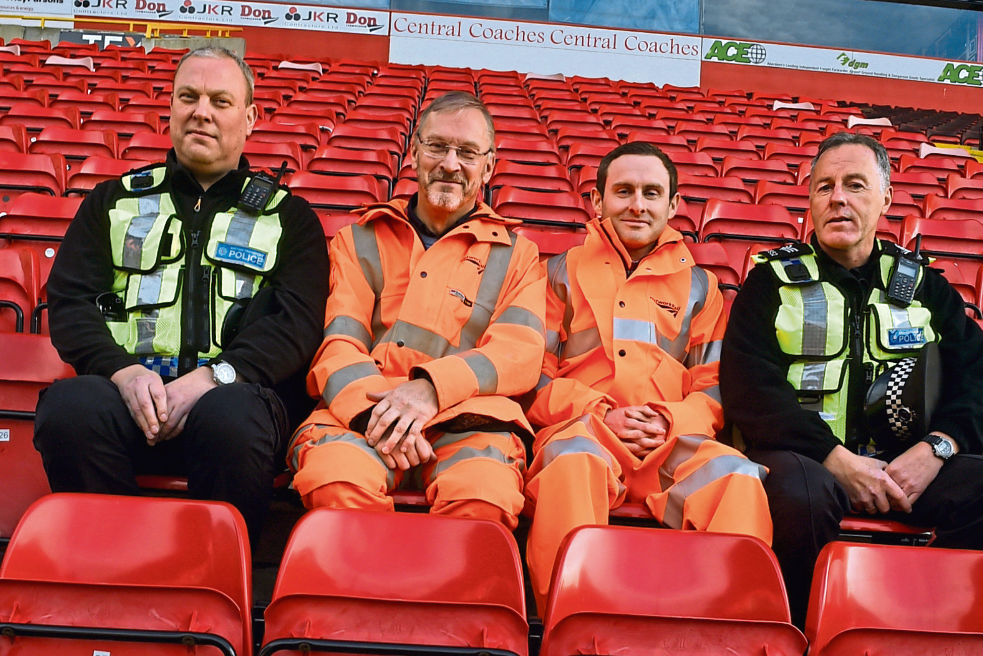 Pc Mark Laurie, Ian Heigh, project manager, Graeme Stewart, project sponsor and sergeant, Kevin Lawrence