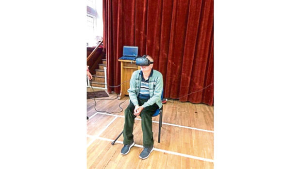 Martin using VR technology.