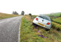 Farm worker Ian Simpson's car ended up down an embankment