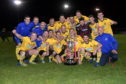 Evening Express Aberdeenshire Cup winners Cove Rangers with the cup.