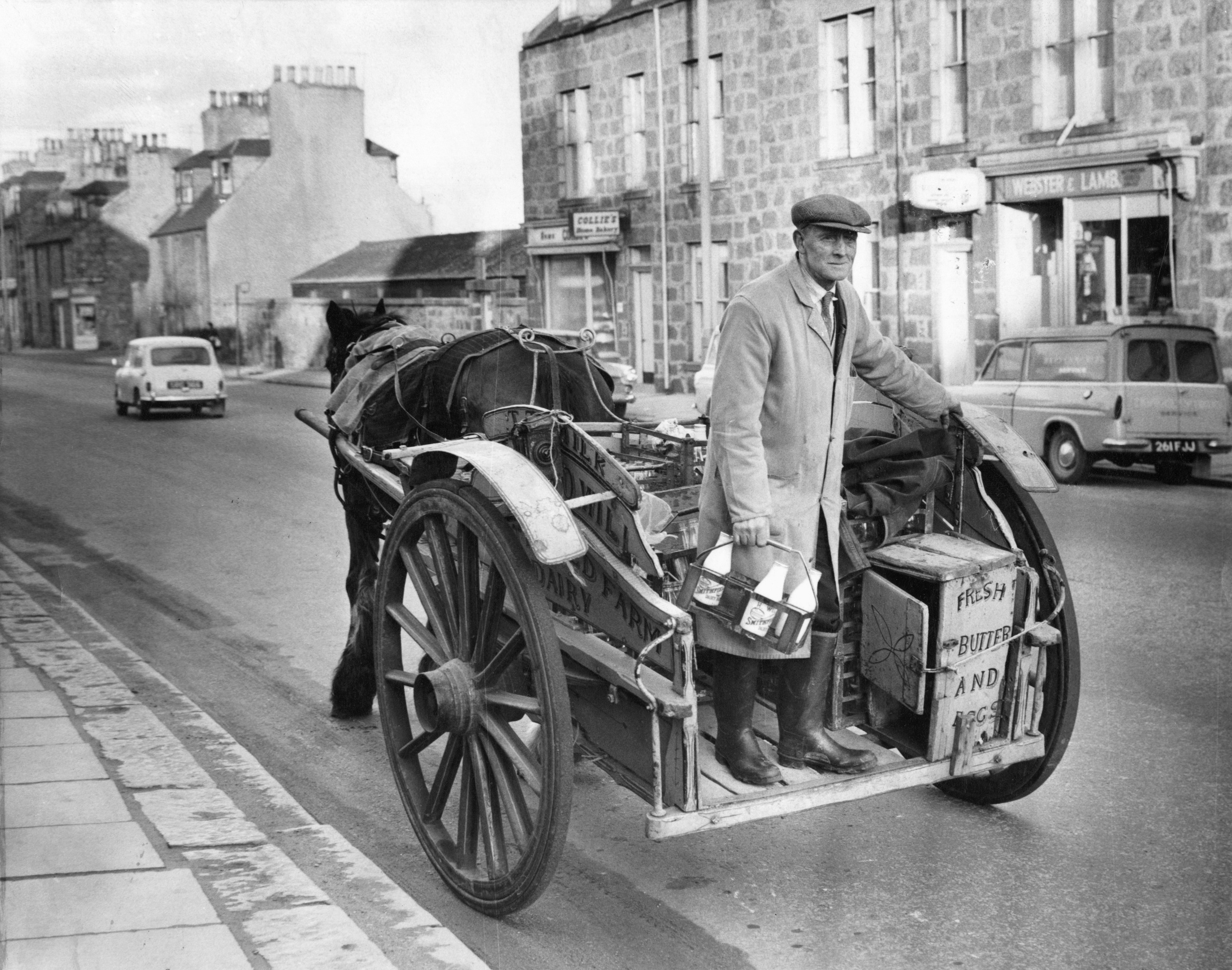 1969: A familiar sight for Great Northern Road residents is Mr Hugh Will who delivers the milk