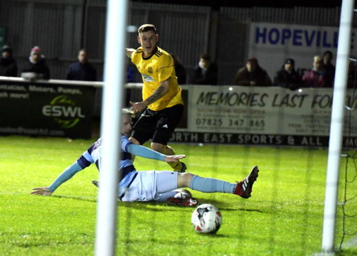 Megginson rounds off the scoring with Cove's fourth.