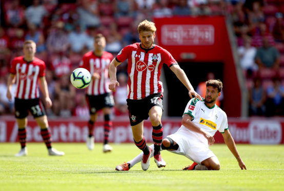 Stuart Armstrong in action for Saints.