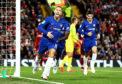 Eden Hazard in Chelsea blue.