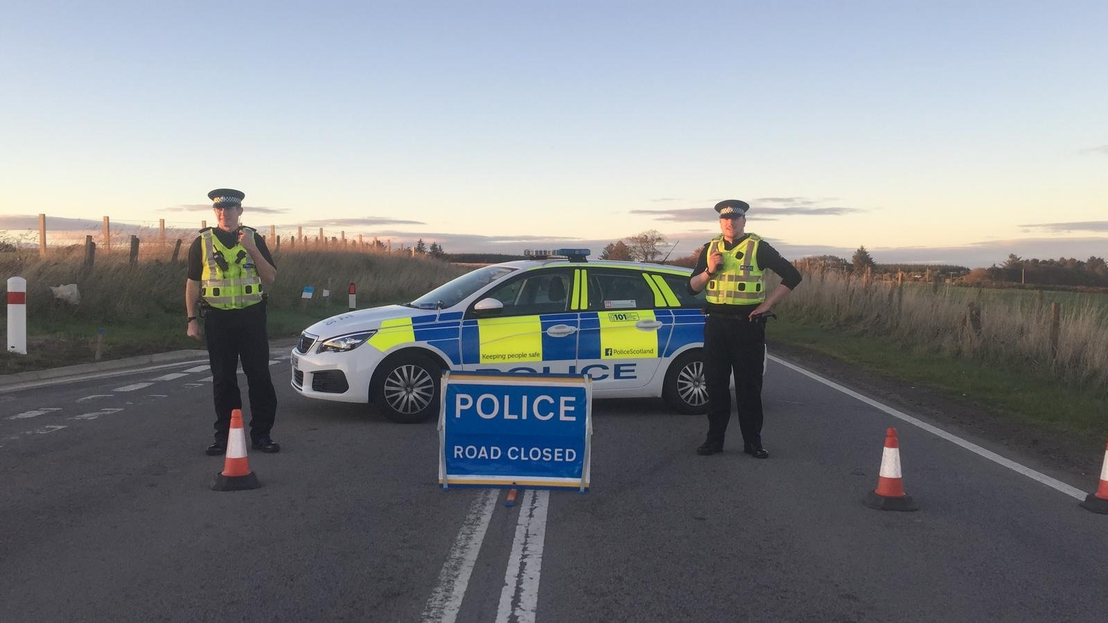 Police at the scene of the fatal crash