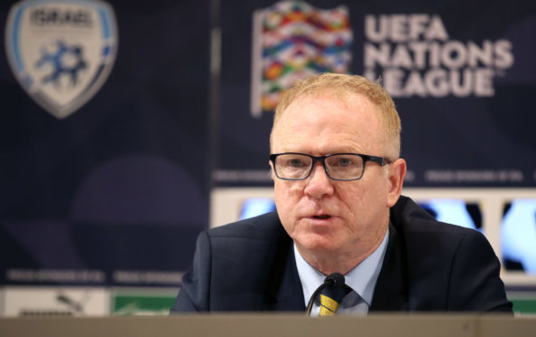 Alex McLeish after the UEFA Nations League loss to Israel.
