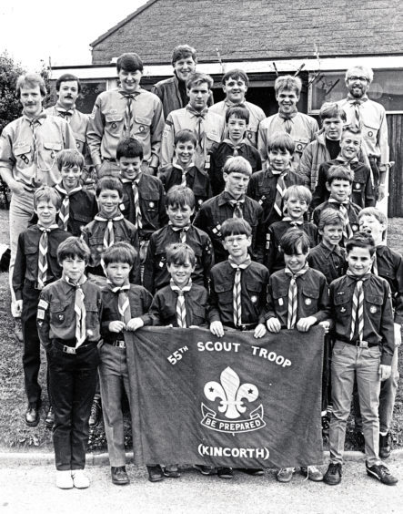 1986: The 55th (Kincorth) Aberdeen Scout Group ready to set off for their annual camp at Aberfeldy  Aberdeen