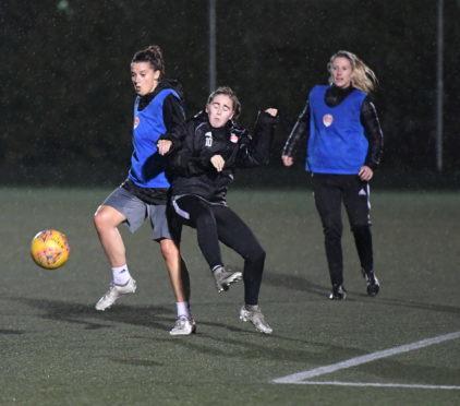 Aberdeen Ladies senior team train at Garthdee. Picture by Chris Sumner