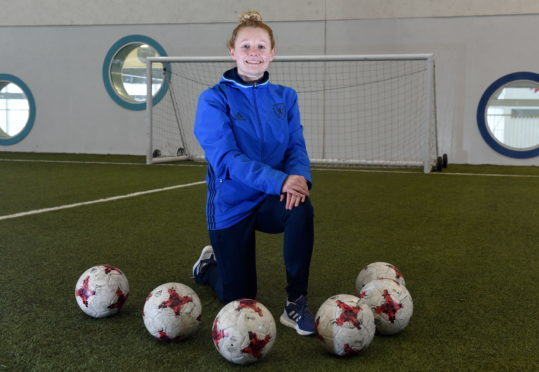 Pictured is Jo Murphy, the SFA's girls and women's club development officer (north region) at Aberdeen Sports Village. Picture by DARRELL BENNS.