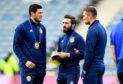 Aberdeen's Scott McKenna, Graeme Shinnie and Mikey Devlin prior to Scotland's friendly with Portugal