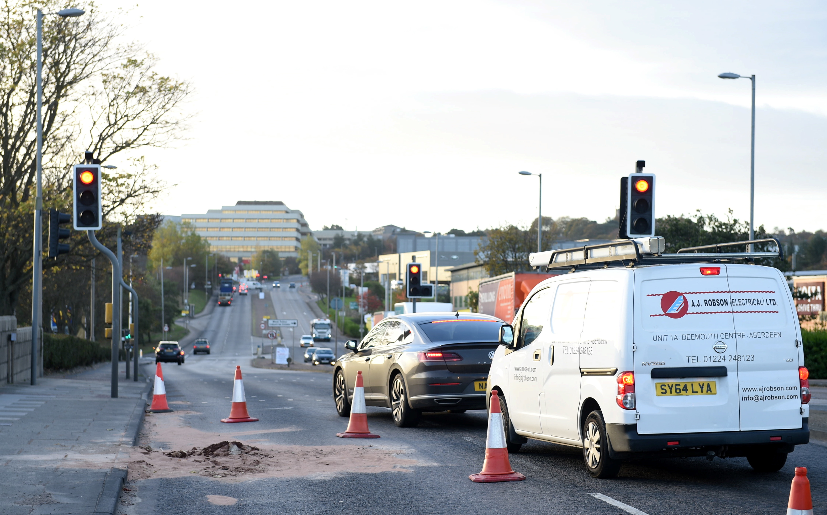 A section of the southbound lane on Wellington Road has been closed