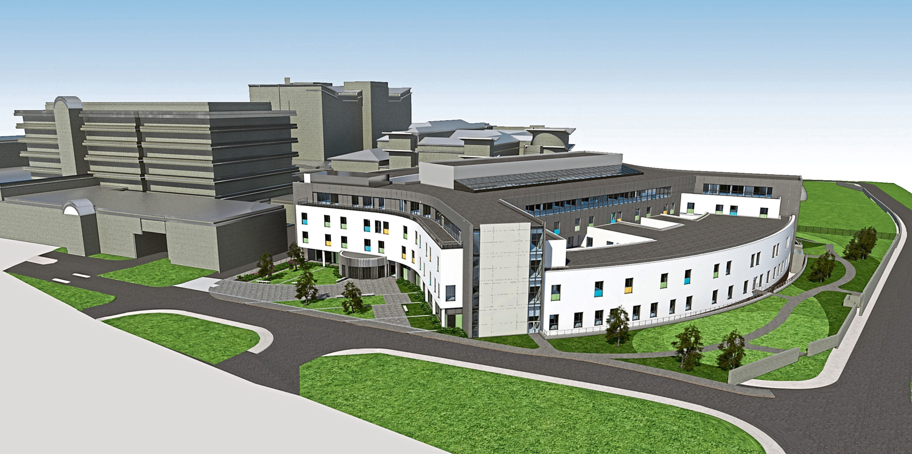 An artist's impression of the Anchor Centre and The Baird Family Hospital