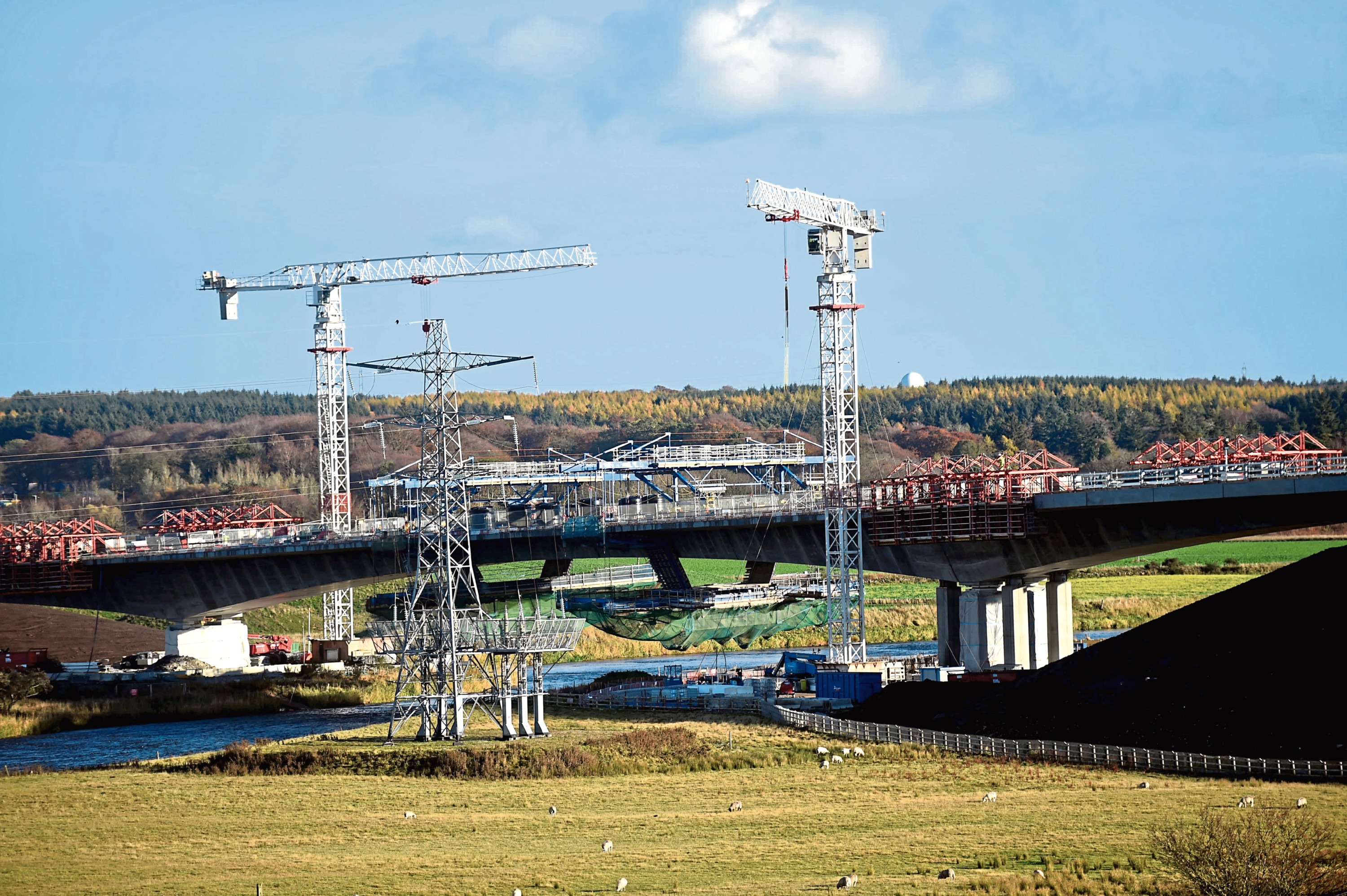 The final section of the road was delayed by works on the bridge over the River Don