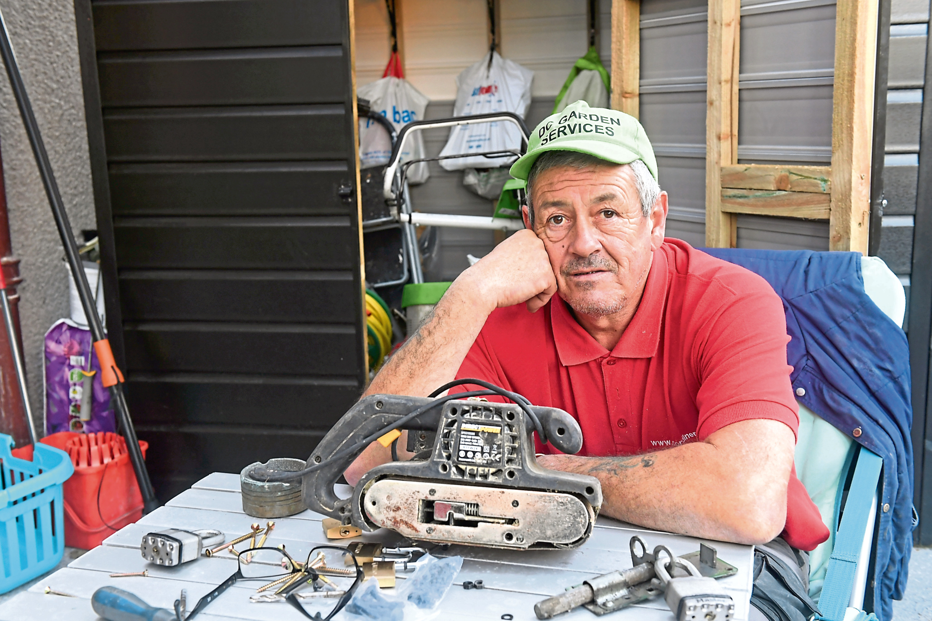 Dave Cumming is appealing after £2,000 of tools were stolen from his shed