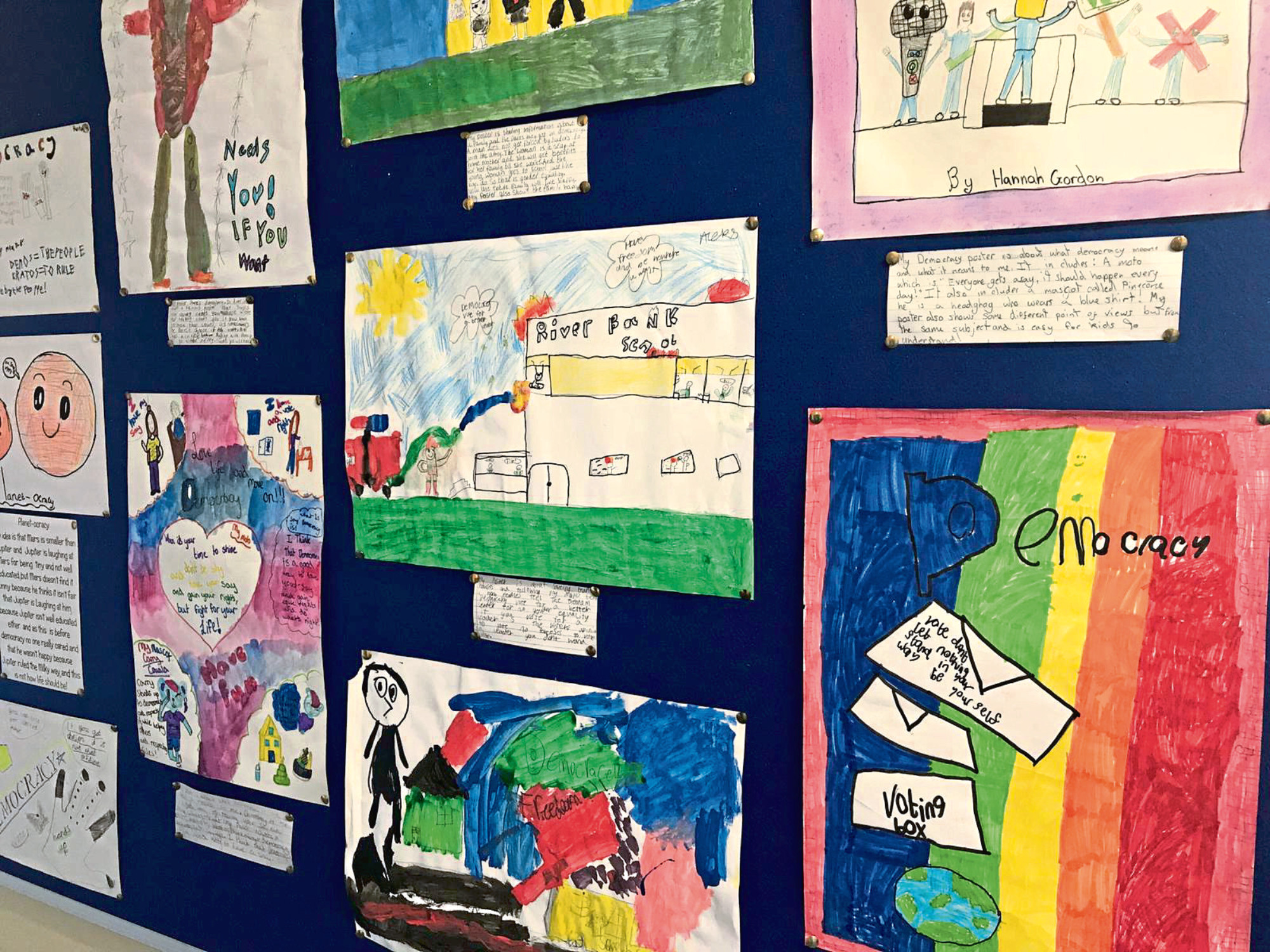 Some of the entries in the poster art competition
