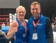 Boxer Lynn Calder, left.