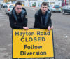Liam Scott and Scott McKenzie of Tilly Butchers on Hayton Road have hit out at the impact the signs have had