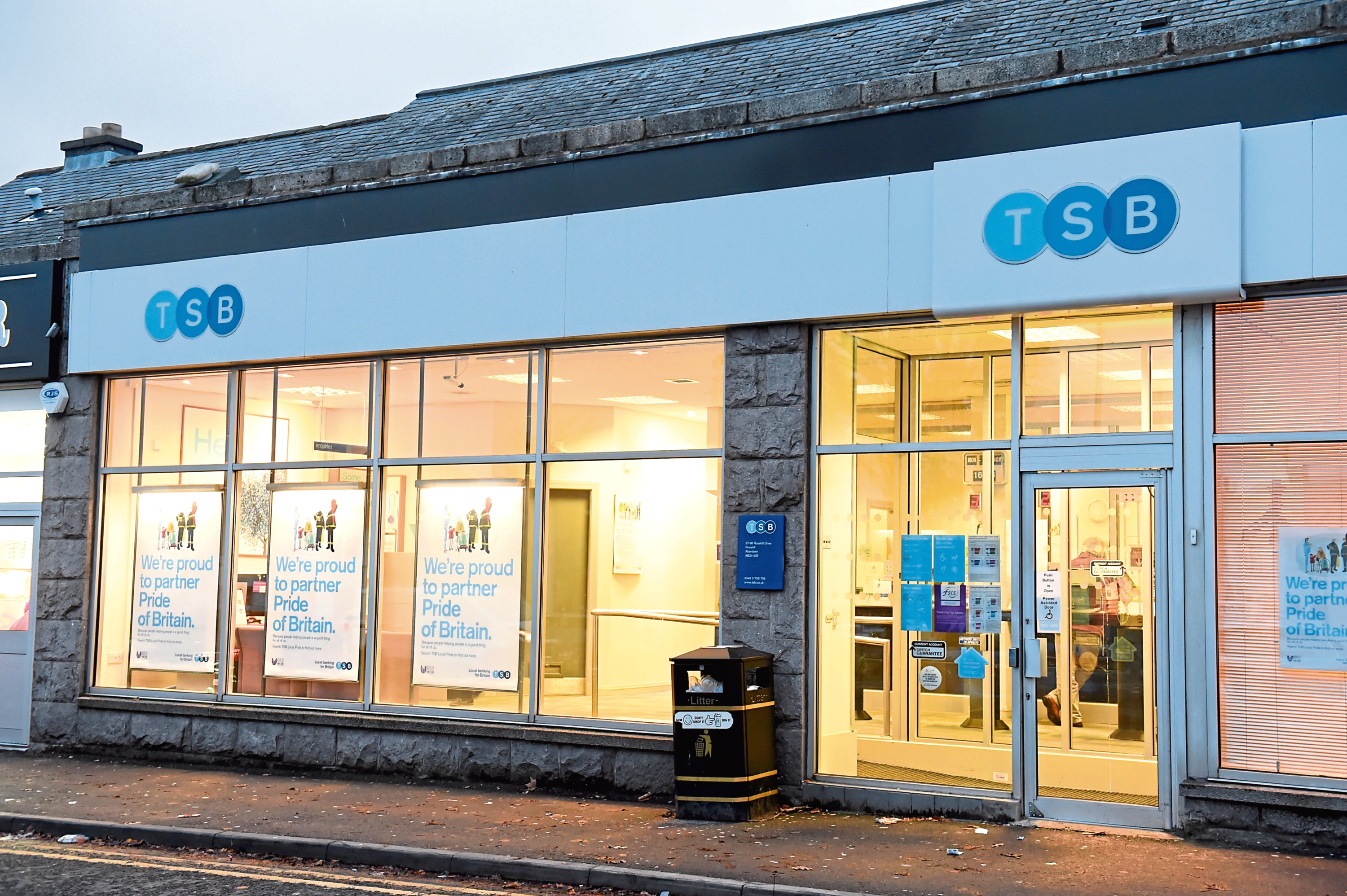 The TSB Branch on Aberdeen's Rosehill Drive