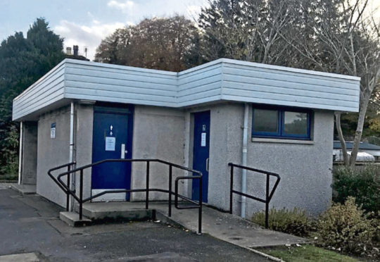 The public toilets in Port Elphinstone which have been vandalised