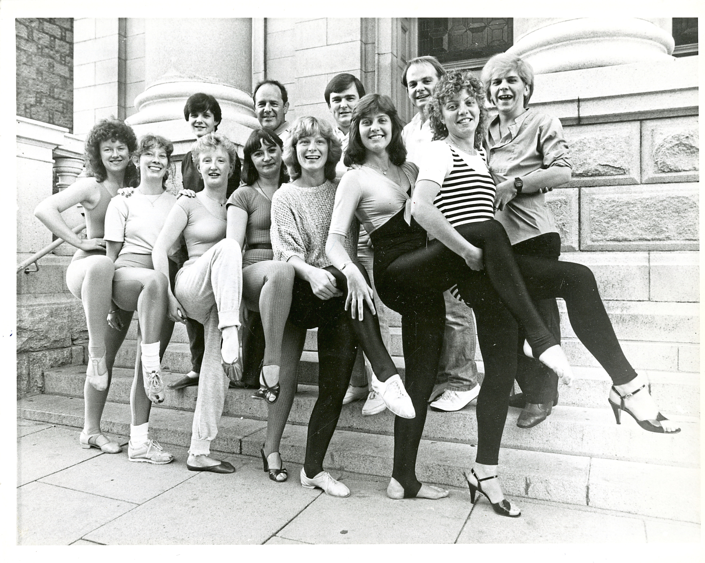1984: Cast members from Guys and Dolls put their best foot forward