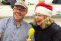 Cyrenians volunteers Gregor Howitt and Maggie Murison get in the spirit for Christmas