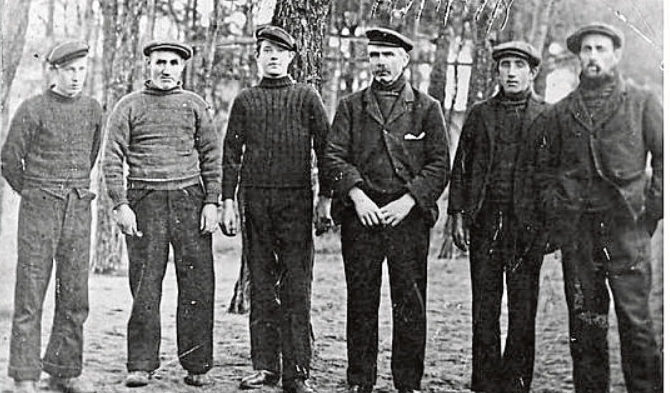 The crew of The Bella fishing boat who were captured by Germans