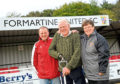 Adam Grant, centre, with his son Colin and daughter Maureen at Formartine United's North Lodge Park