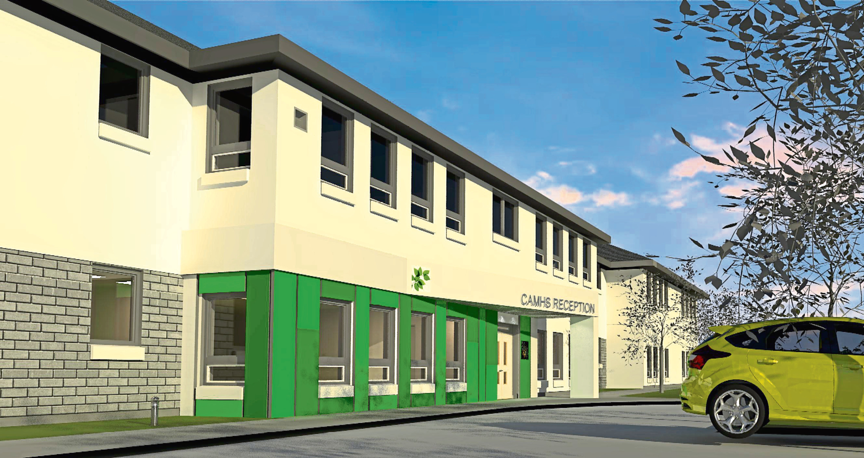 An artist's impression of how the new centre for Child and Adolescent Mental Health at the Links Unit, City Hospital, will look