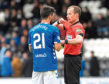 03/11/18 LADBROKES PREMIERSHIP ST MIRREN v RANGERS (0-2) SIMPLE DIGITAL ARENA - PAISLEY Rangers' Daniel Candeias is shown a red card after a second yellow for aggressive behaviour
