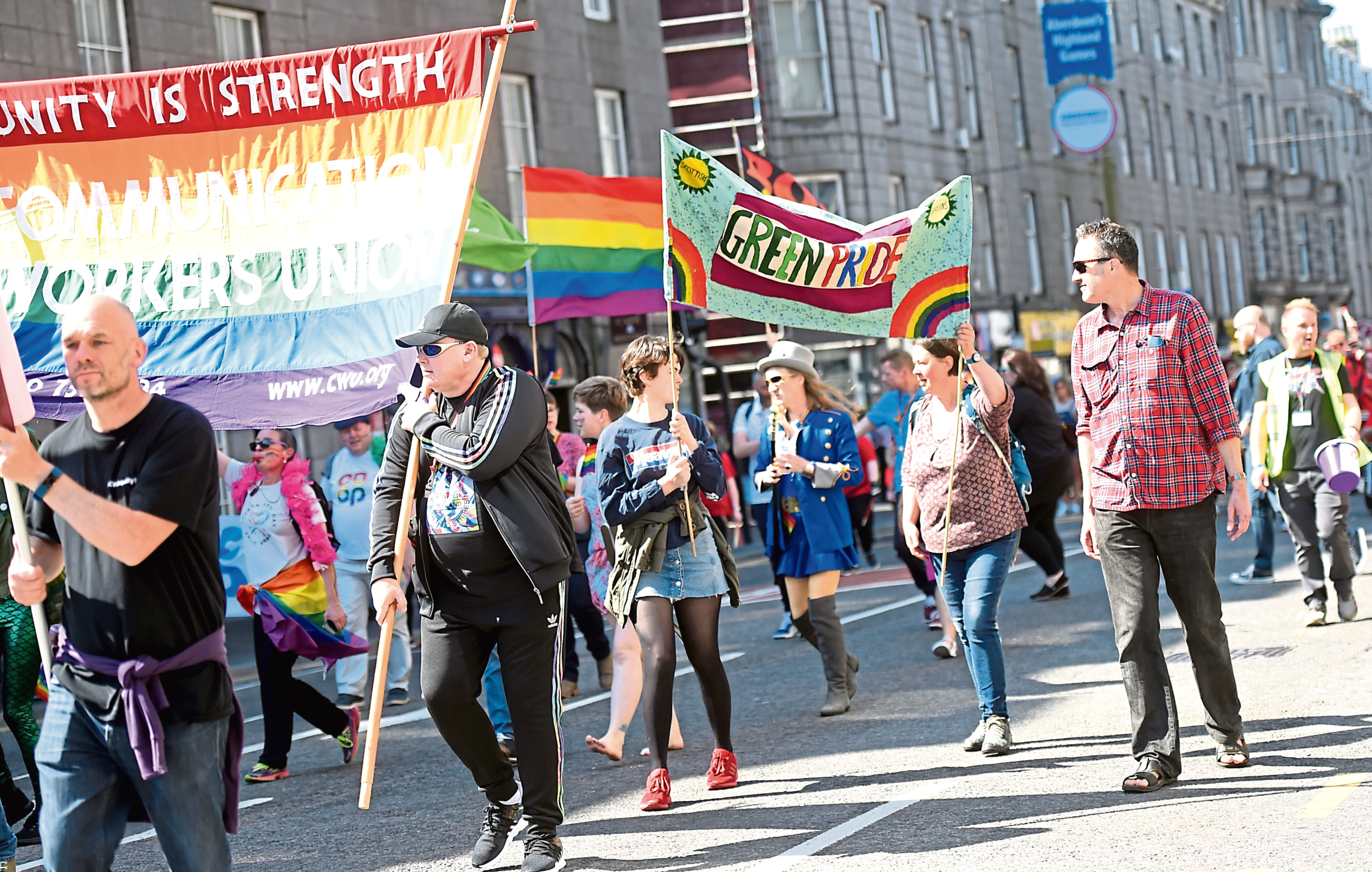 Thousands of people took to Union Street in May for the Grampian Pride Parade