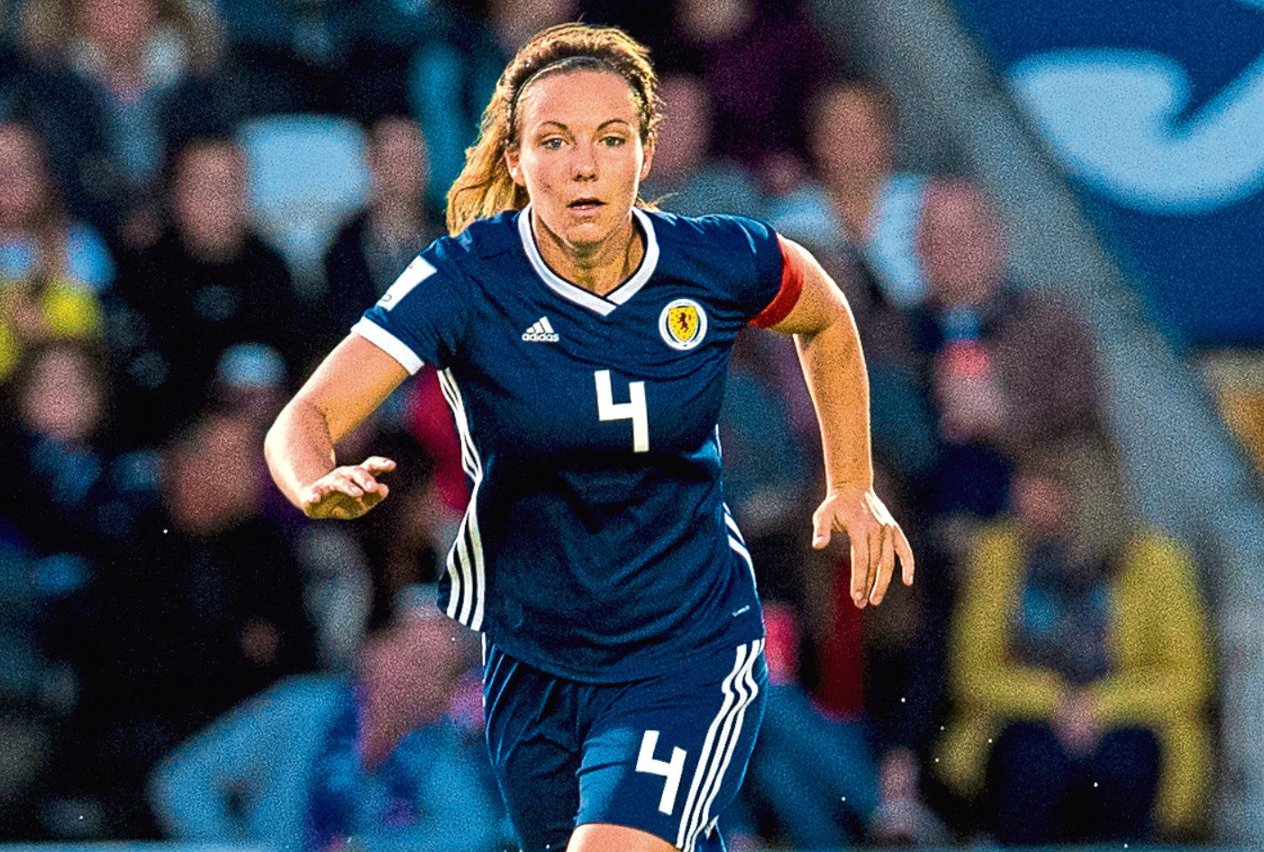 Rachel Corsie in action for Scotland.